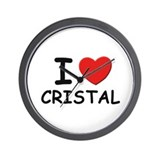 I love Cristal Wall Clock