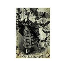 Victorian Halloween Bat Collage Rectangle Magnet
