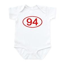 Number 94 Oval Infant Bodysuit