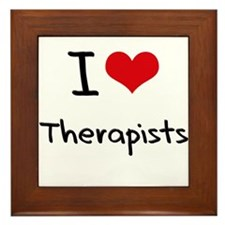 I love Therapists Framed Tile