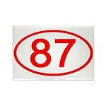 Number 87 Oval Rectangle Magnet