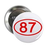 Number 87 Oval Button