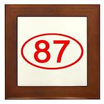 Number 87 Oval Framed Tile