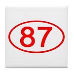 Number 87 Oval Tile Coaster