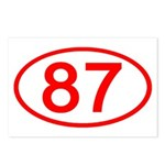 Number 87 Oval Postcards (Package of 8)