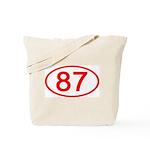 Number 87 Oval Tote Bag