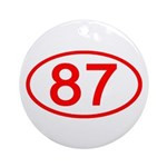 Number 87 Oval Ornament (Round)