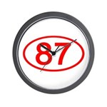 Number 87 Oval Wall Clock