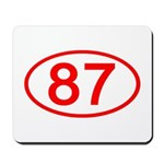Number 87 Oval Mousepad