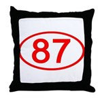 Number 87 Oval Throw Pillow