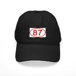 Number 87 Oval Black Cap