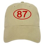 Number 87 Oval Cap