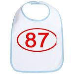 Number 87 Oval Bib