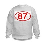 Number 87 Oval Kids Sweatshirt