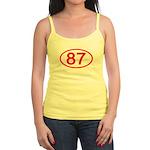 Number 87 Oval Jr. Spaghetti Tank