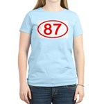 Number 87 Oval Women's Pink T-Shirt