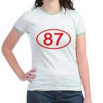 Number 87 Oval Jr. Ringer T-Shirt