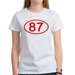 Number 87 Oval Women's T-Shirt