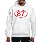 Number 87 Oval Hooded Sweatshirt