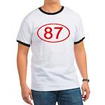 Number 87 Oval Ringer T