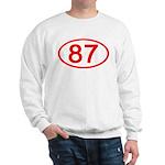 Number 87 Oval Sweatshirt