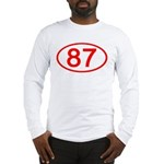Number 87 Oval Long Sleeve T-Shirt