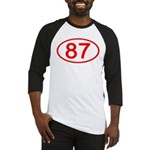 Number 87 Oval Baseball Jersey