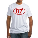 Number 87 Oval Fitted T-Shirt