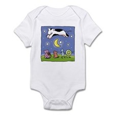 cow jumping over the moon Infant Bodysuit