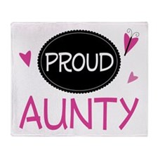 Proud Aunty Throw Blanket
