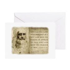 Da Vinci Animal Quote Greeting Card