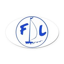Fayson Lakes Logo Oval Car Magnet