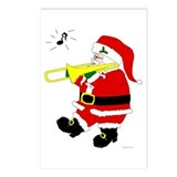 Santa Plays Trombone Christmas Postcards (Package