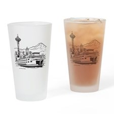 Space Needle and Ferry Drinking Glass