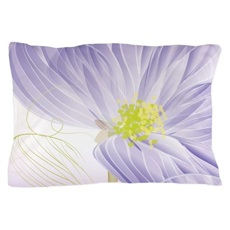 Lavender Sweet Peas Floral Pillow Case