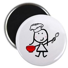"Girl & Chef 2.25"" Magnet (10 pack)"