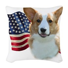 CardiganFlag.png Woven Throw Pillow