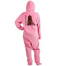 CockerbrownMom4.png Footed Pajamas