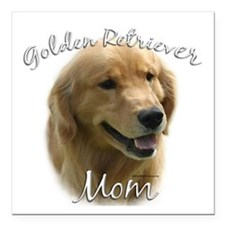 "Golden Mom 2 Square Car Magnet 3"" x 3"""
