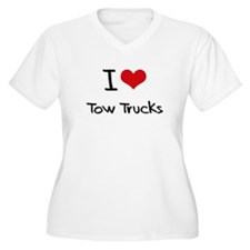 I love Tow Trucks Plus Size T-Shirt