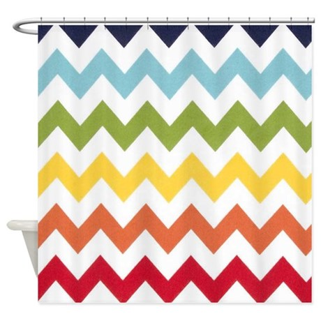 Classy Rainbow Chevron Stripes Shower Curtain By Chevroncitystripes