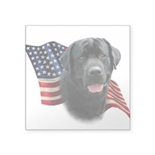 "Black Lab Flag Square Sticker 3"" x 3"""