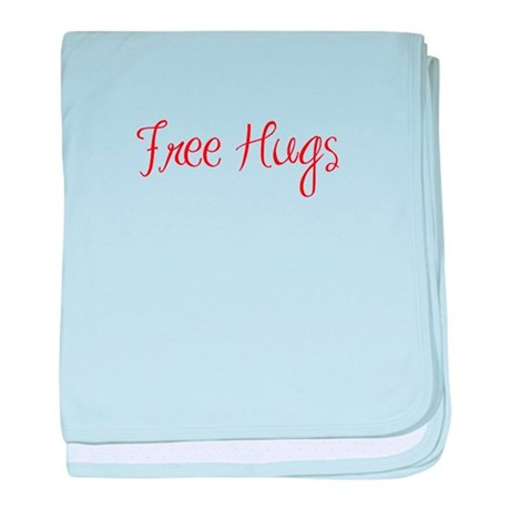 free-hugs-sexy-red baby blanket