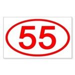 Number 55 Oval Rectangle Sticker