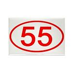 Number 55 Oval Rectangle Magnet