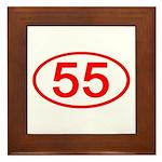 Number 55 Oval Framed Tile