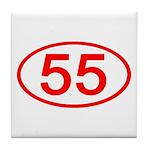 Number 55 Oval Tile Coaster
