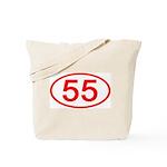 Number 55 Oval Tote Bag