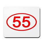 Number 55 Oval Mousepad