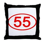 Number 55 Oval Throw Pillow